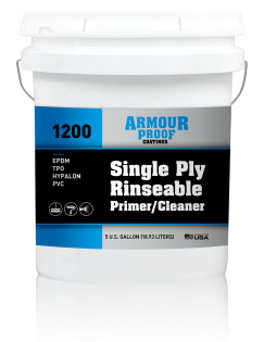 Image of United Asphalt's Armour Proof AP-1200 Single-Ply Rinseable Primer / Cleaner - 5 Gallon Bucket