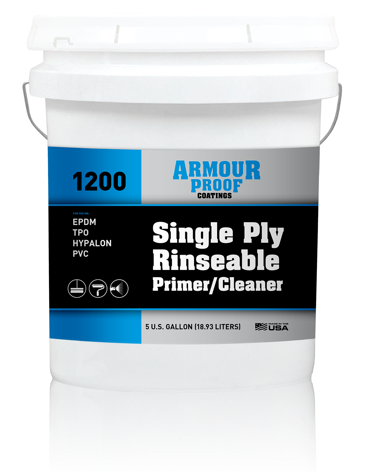 Armour Proof 1200 Single-Ply Rinseable Primer/Cleaner - 5 Gallon Bucket