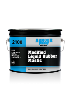 Image of United Asphalt's Armour Proof AP-2100 Modified Liquid Rubber Mastic in 3 Gallon Pail