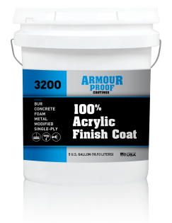 Image of United Asphalt's Armour Proof AP-3200 Acrylic Roof Coating in 5 Gallon Bucket