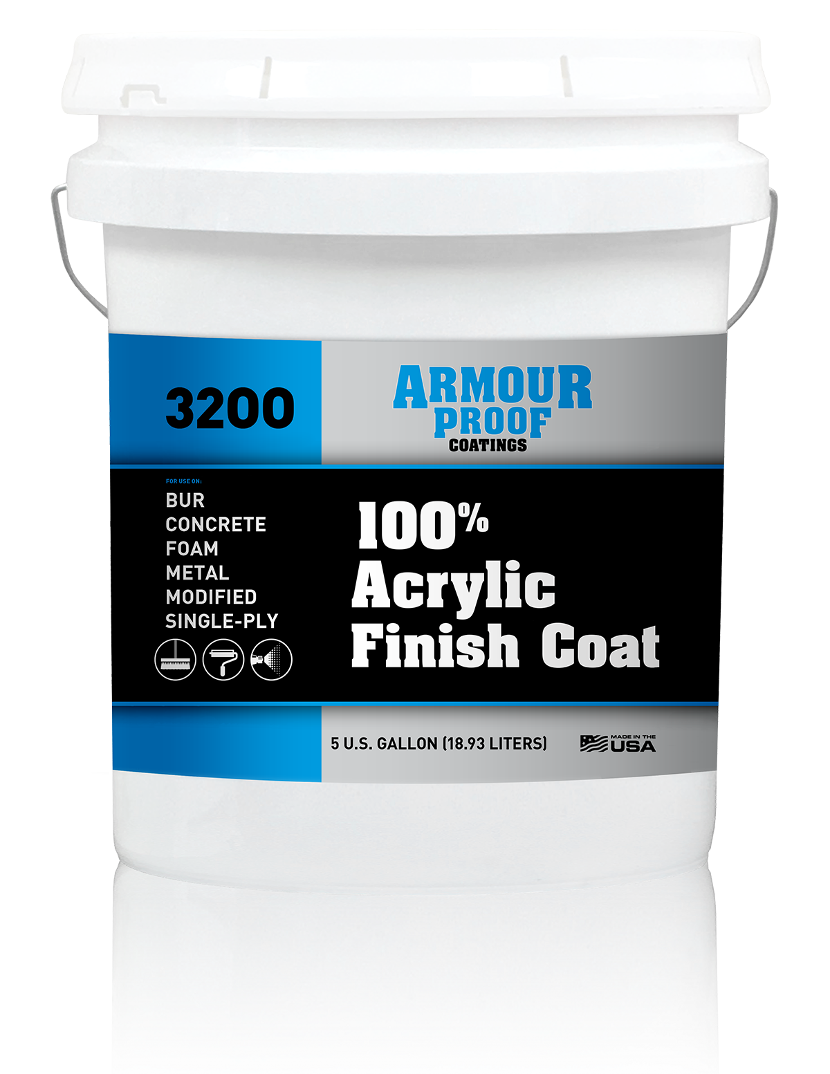 Image of Armour Proof 3200 100% Acrylic Finish Coat - 5 Gallon Bucket