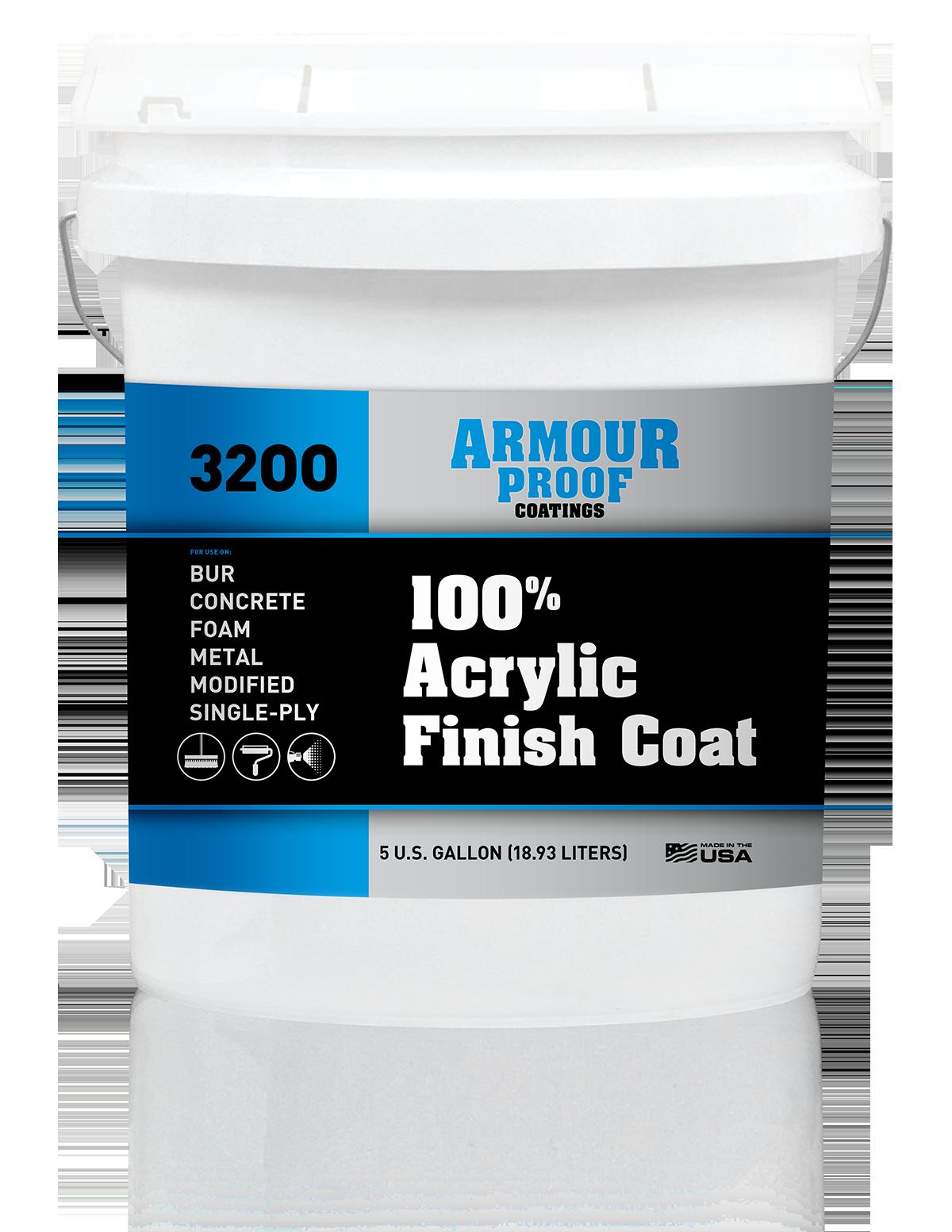 Armour Proof 3200 Acrylic Finish Coat - 5 Gallon Bucket