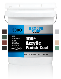 United Asphalt's Armour Proof AP-3300 Acrylic Finish Coat with Available Color Swatches in 5 Gallon Bucket