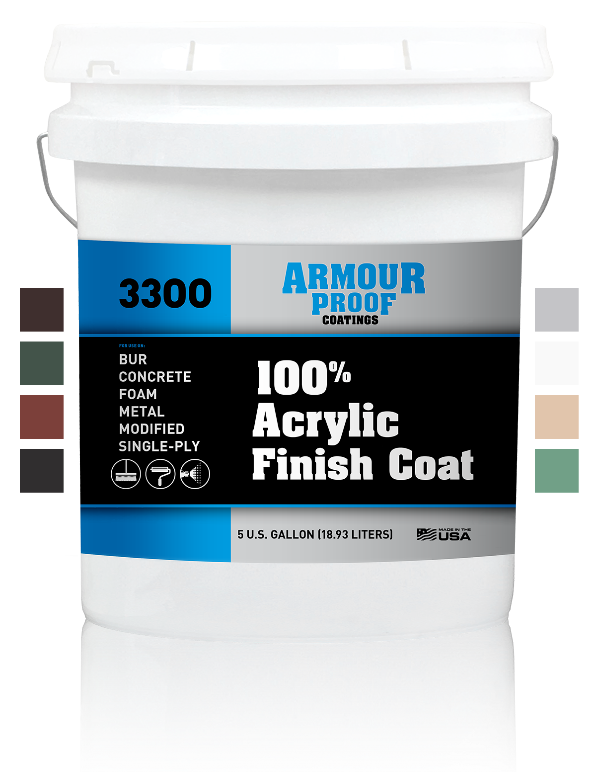 Image of Armour Proof 3300 Acrylic Finish Coat Colors - 5 Gallon Bucket