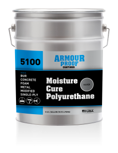 Image of United Asphalt's Armour Proof AP-5100S Moisture Cure Polyurethane (Silver) in 5 Gallon Pail