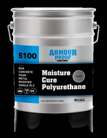 Ap 5100s Moisture Cure Polyurethane Silver Armour