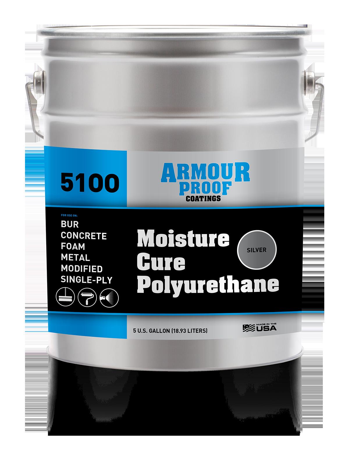 Image of AP-5100 Silver Moisture Cure Polyurethane - 5 Gallon Pail