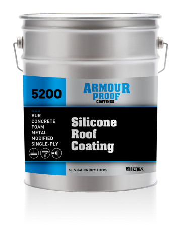 ap 5200 silicone roof coating armour proof coatings
