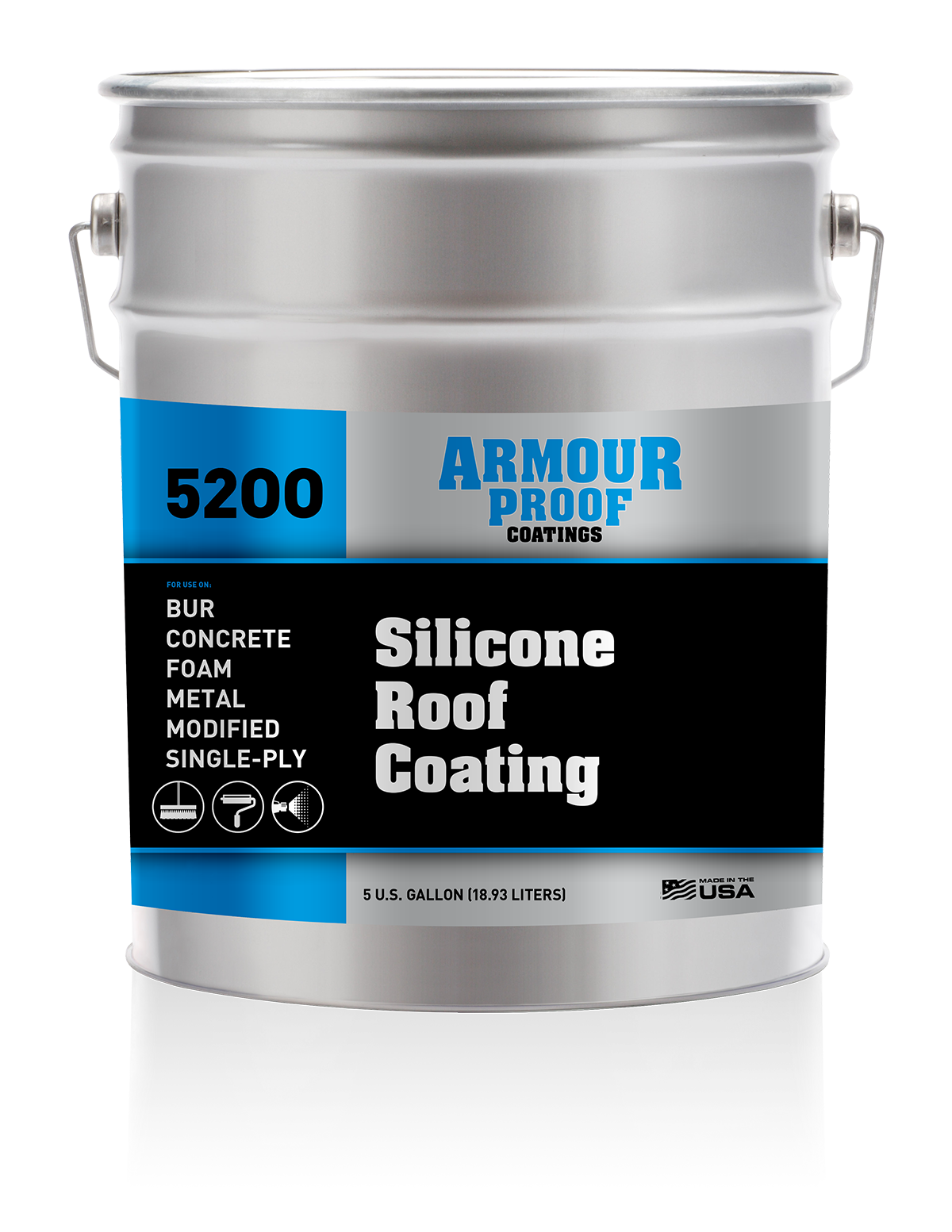 Image of Armour Proof 5200 Silicone Roof Coating - 5 Gallon Pail