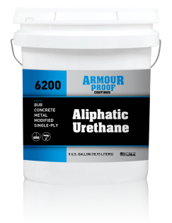 Image of United Asphalt's Armour Proof AP-6200 Aliphatic Urethane Coating in 5 Gallon Bucket