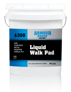 Image of United Asphalt's Armour Proof AP-6300 Liquid Walk Pad in 5 Gallon Bucket
