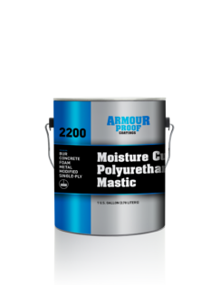 Image of United Asphalt's Armour Proof AP-2200 Moisture Cure Polyurethane Mastic (Silver) in 1 Gallon Pail