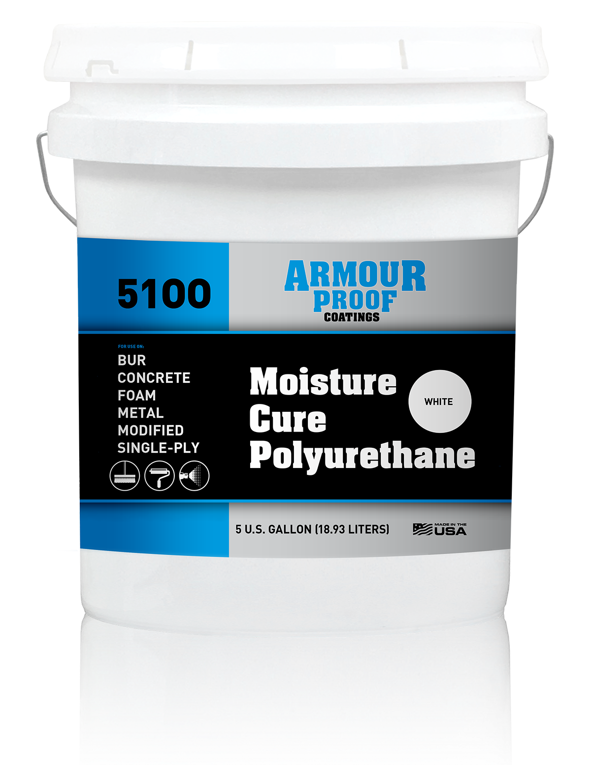 Armour Proof 5100 Moisture Cure Polyurethane - 5 Gallon Bucket