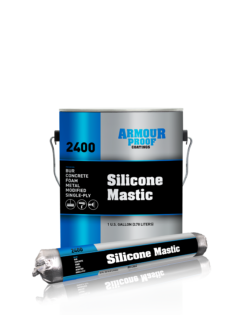 United Asphalt's Armour Proof AP-2400 Silicone Mastic in 20 Ounce Sausage Tube & 1 Gallon Pail
