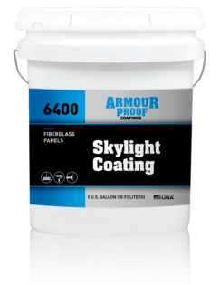 Image of United Asphalt's Armour Proof AP-6400 Skylight Coating in 5 Gallon Bucket
