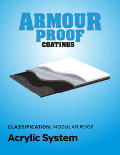 United Asphalt's Armour Proof Acrylic Modular Coating System