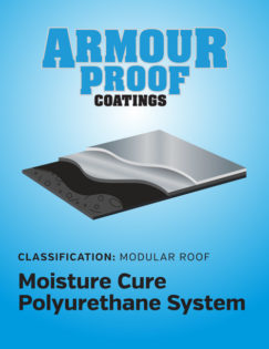 United Asphalt's Armour Proof Moisture Cure Polyurethane Modular System Silver