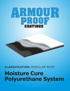 United Asphalt's Armour Proof Moisture Cure Polyurethane Modular System White