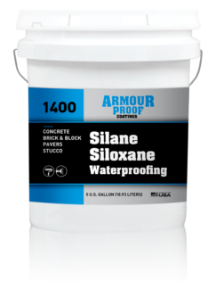 Image of United Asphalt's Armour Proof AP-1400 Silane/Siloxane Waterproofing in 5 Gallon Bucket